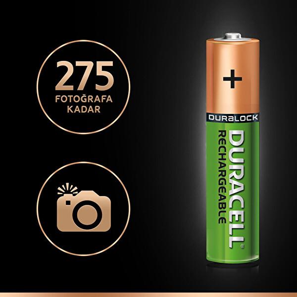 Duracell 4 lü 850 mAh AAA Şarj Edilebilir Pil