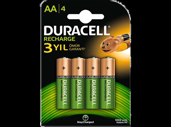 Duracell 4 lü 1300 mAh AA Şarj Edilebilir Pil