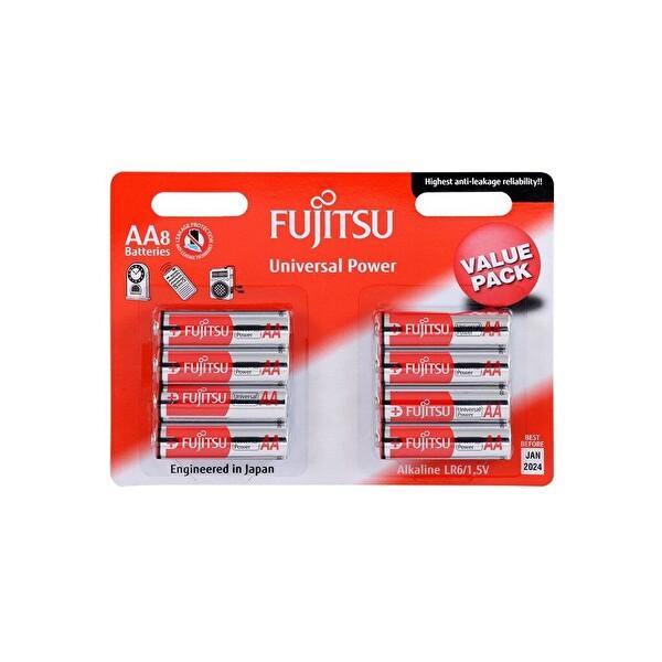 Fujitsu Universal Power LR06 Alkaline Kalem AA Size Pil 8 li Blister