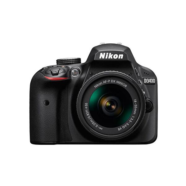 NIKON D3400 18-55 AF-P LENS 24.2 MP 3' LCD EKRAN  DIJITAL SLR FOTOĞRAF MAKiNESi