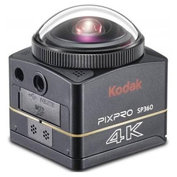 Kodak Pixpro SP360 4K VR Aksiyon Kamera Wİ-Fİ ve 4K Aqua Paket Siyah