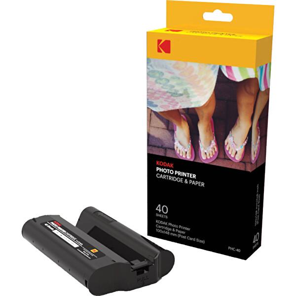 Kodak PHC-40 Pd450W Modeli İçin 40 Adet 10X15 Baskı Kağıt Ve Ribon