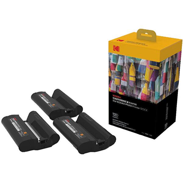 Kodak PHC-120 PD450W Modeli İçin 120 Adet 10X15 Baskı Kağıt Ve Ribon