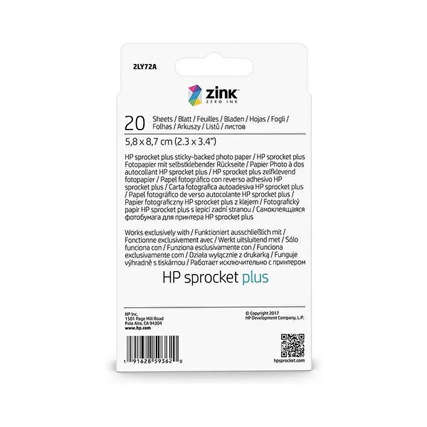 HP 2LY72A Sprocket Plus Fotoğraf Kağıdı - 5.8x8.7 Cm - 20 Adet