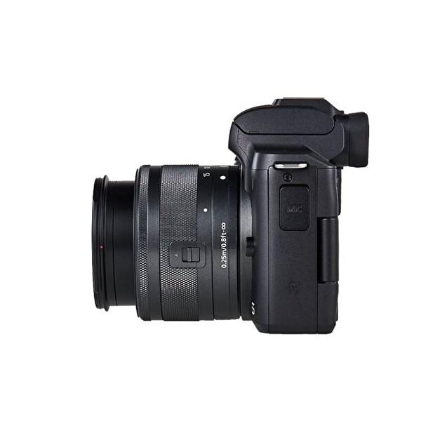 Canon EOS M50 M15 45 IS Stm Siyah Vlogger Kit Dijital Fotoğraf Makinesi