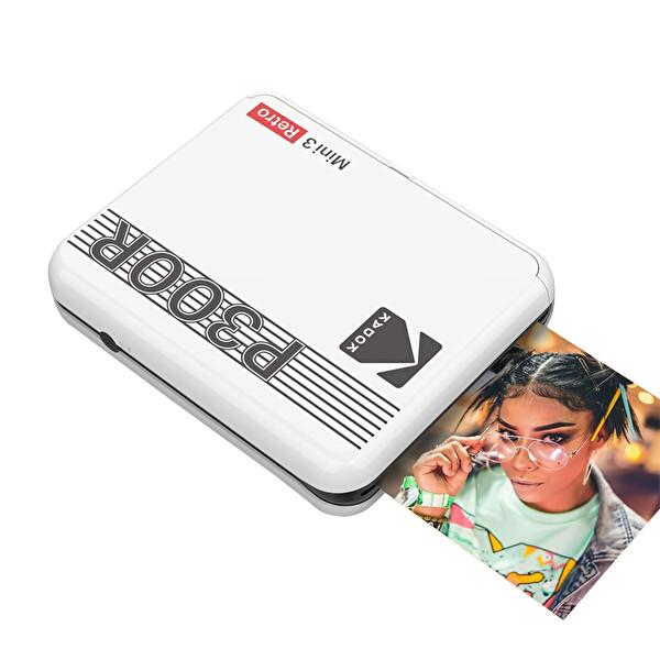 Kodak Mini 3 Retro Akıllı Telefon Fotoğraf Yazıcısı Beyaz
