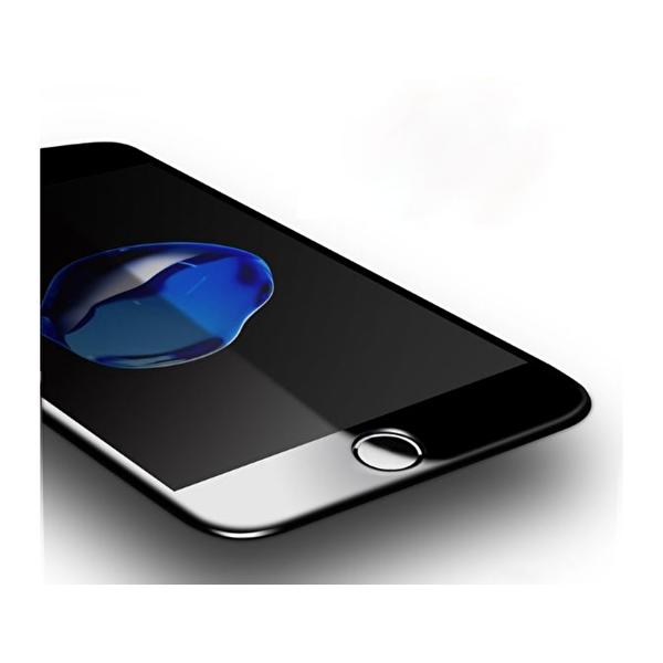 Dayanıklı Cam Ekran Koruma iPhone 8 Plus (Ön-Arka) 4D Premium Siyah