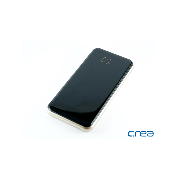 Çrea 10000 Mah Black Lcd Display Silver Powerbank