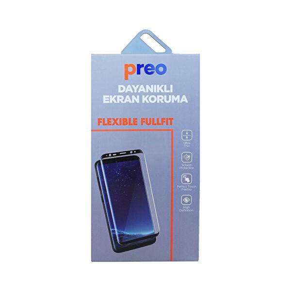 Preo Dayanıklı Ekran Koruma iPhone 8 Flexible Fullfit Siyah
