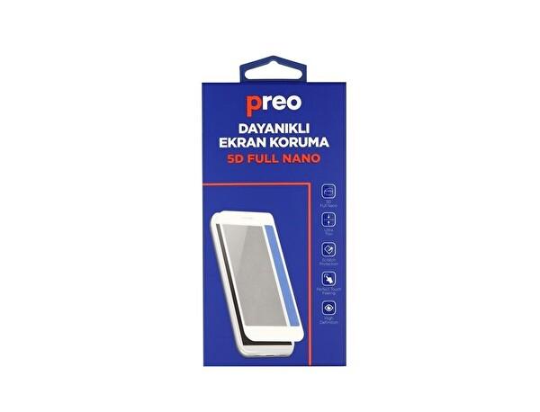 Preo iPhone 8 (Ön-Arka) Beyaz 5D Full Nano Premium Dayanıklı Ekran Koruma