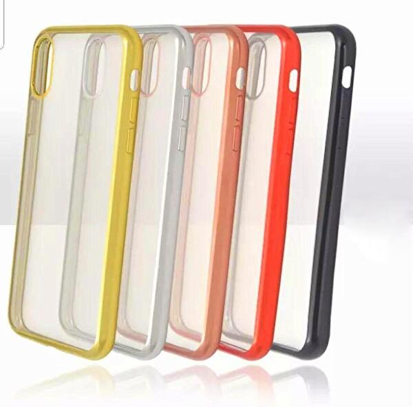 Preo Tpu Case Samsung Galaxy A30S Polikarbon Telefon Kılıfı Siyah Kenar