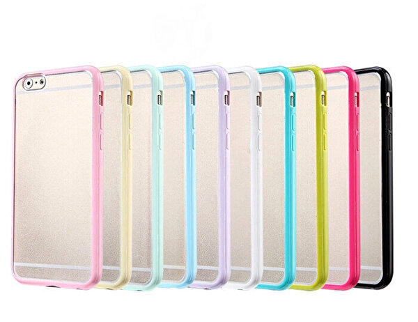 Preo Tpu Case iPhone 7 Plus Polikarbon Telefon Kılıfı Mavi Kenar