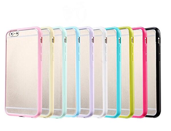 Preo Tpu Case iPhone SE 2020 Polikarbon Telefon Kılıfı Siyah Kenar