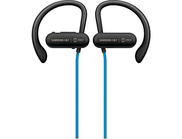 Samsung C&T Itfit BE7 Ipx4 Kablosuz Kancalı Spor Kulaklık Mavi