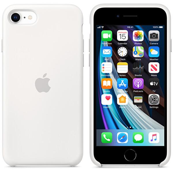 Apple MXYJ2ZM/A iPhone SE 2. Nesil Silikon Telefon Kılıfı Beyaz