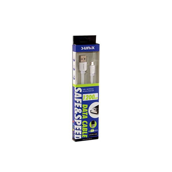 Sunix Sc-02 Safe Speed Double Sıde Beyaz Micro Usb Kablo