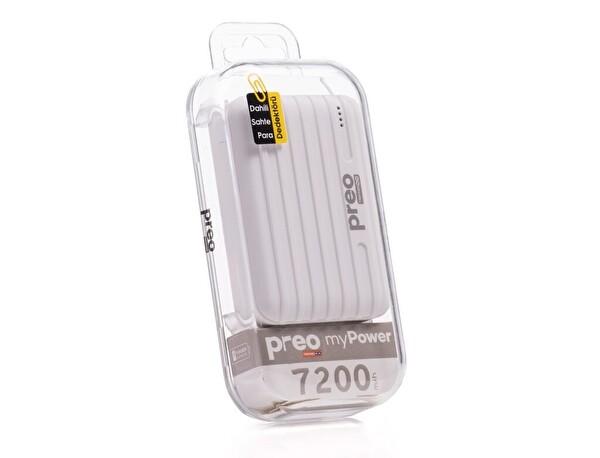 Preo My Power MP02 Beyaz 7200 mAh Taşınabilir Şarj Cihazı