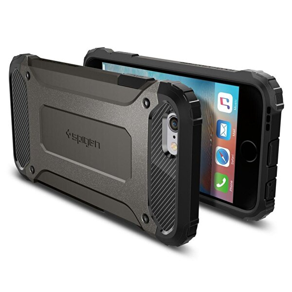 Spigen iPhone 6/6S Plus Tough Armor Gun Metal Cep Telefonu Kılıfı