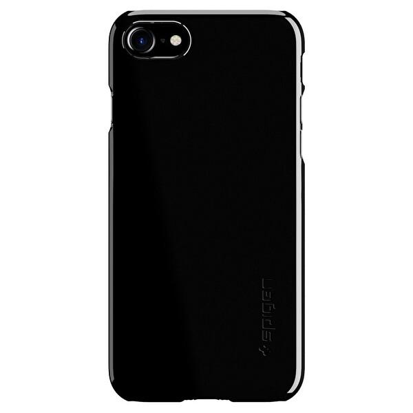 Spigen iPhone 7 Thın Fıt Ultra Ince Jet Black Cep Telefonu Kılıfı