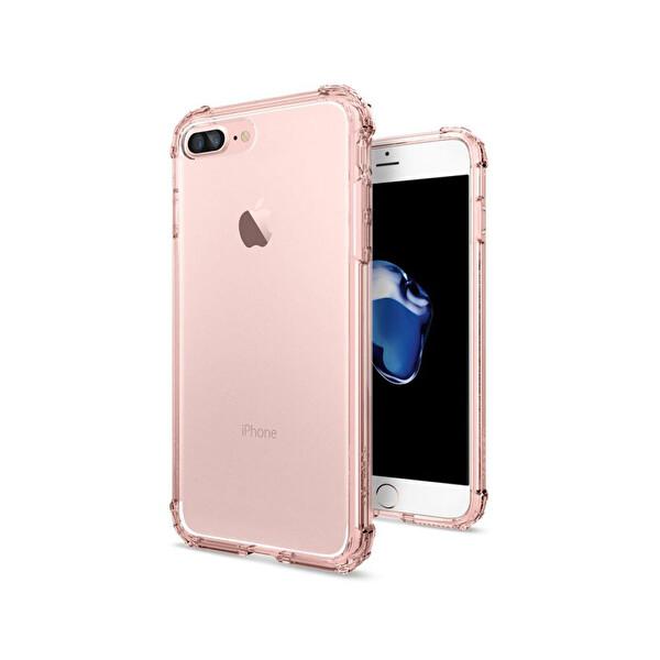Spigen iPhone 7 Plus Crystal Shell Rose Crystal Cep Telefonu Kılıfı
