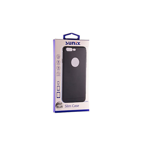 Sunix Pro Case iPhone 7 Plus Siyah Ultra Silikon Telefon Kılıfı