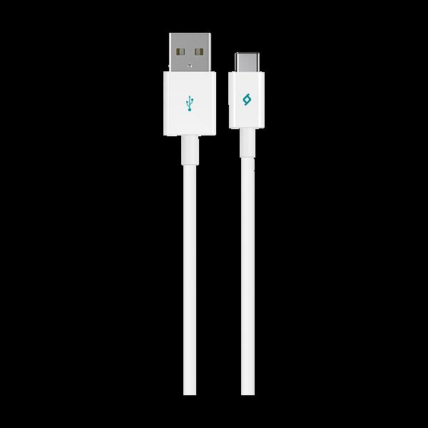 Ttec Type-C Usb 3.1 Kevlar Sargılı Beyaz Şarj Kablosu
