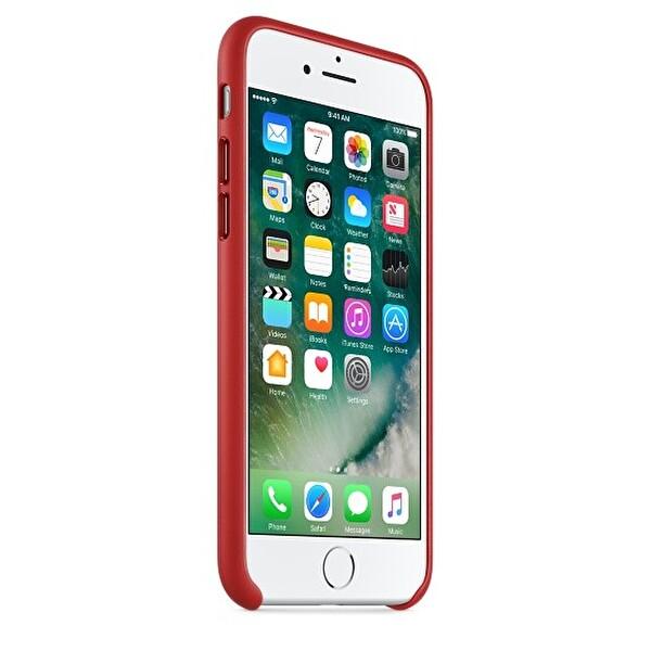 Apple iPhone 7 Deri Kırmızı Cep Telefonu Kılıfı (MMY62ZM/A)