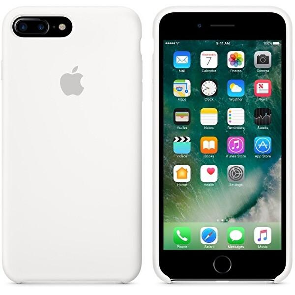 Apple iPhone 7 Plus Silikon Beyaz Cep Telefonu Kılıfı (MMQT2ZM/A)
