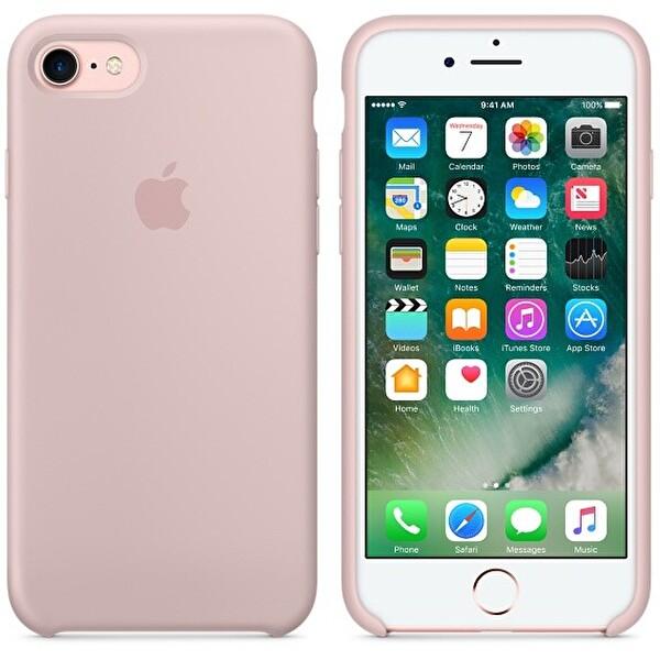 Apple iPhone 7 Silikon Kum Pembesi Cep Telefonu Kılıfı (MMX12ZM/A)