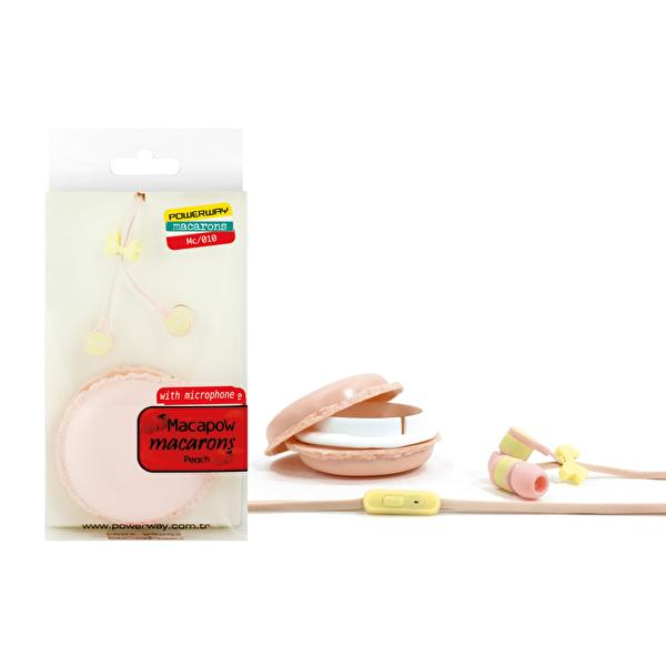 Powerway Macapow Macarons Mikrofonlu Kulak İçi Kulaklık