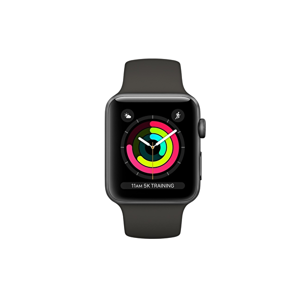 Apple Watch S3 42mm Space Grey Alüminyum Kasa ve Gri Spor Kordon (MR362TU/A)