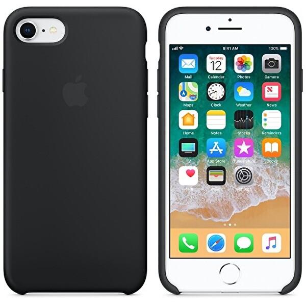 Apple iPhone 8 Siyah Silikon Kılıf MQGK2ZM/A