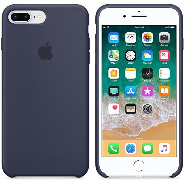 Apple MQGY2ZM/A iPhone 8 Plus Silikon Kılıf - Gece Mavisi