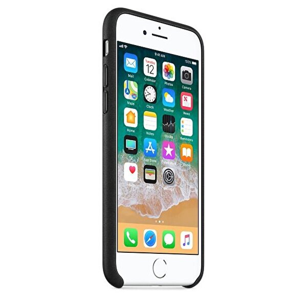Apple MQH92ZM/A iPhone 8 Deri Kılıf - Siyah