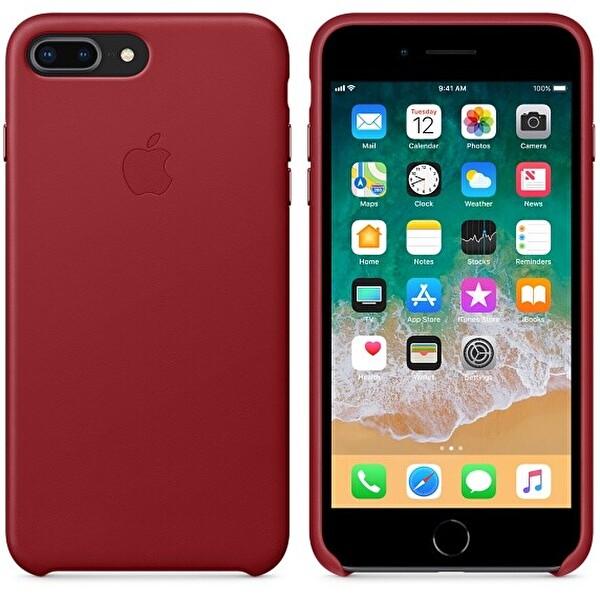 Apple MQHN2ZM/A iPhone 8 Plus Kırmızı Deri Kılıf