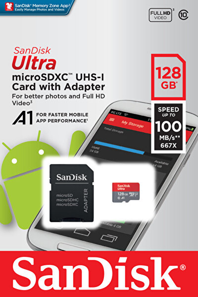 Sandisk 128 GB Micro Sd Hafıza Kartı (Sdsquar-128G-Gn6Ma )