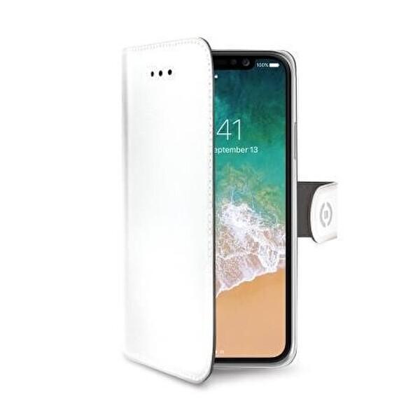 Celly Wally iPhone X Beyaz Cep Telefonu Kılıfı