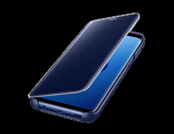 Samsung S9 Clear Wiew Stading Kılıf Altın