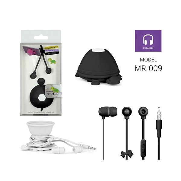 Powerway Mr-009 Turtle Siyah Mikrofonlu Silikon Kulaklık & Masaüstü Telefon Standı