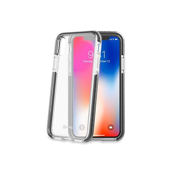 Celly Hexagon iPhone X Siyah Kılıf