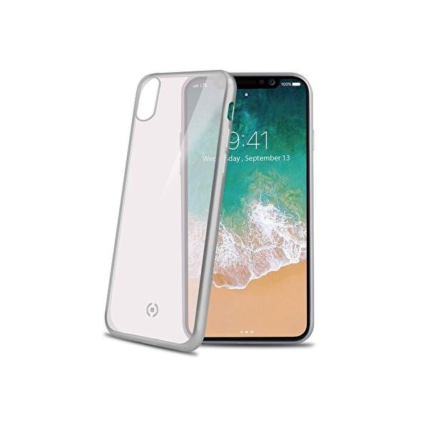 Celly LASERMATT iPhone X Gümüş Kılıf