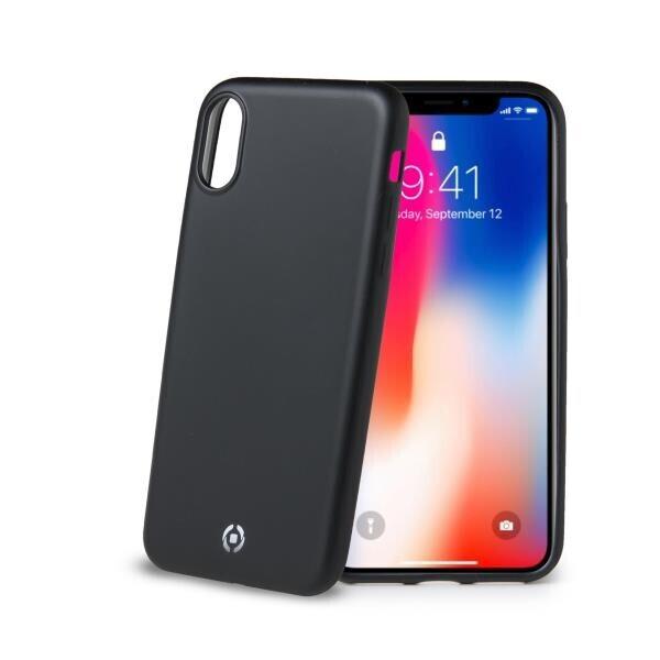 Celly Softmatt iPhone X Siyah Kılıf