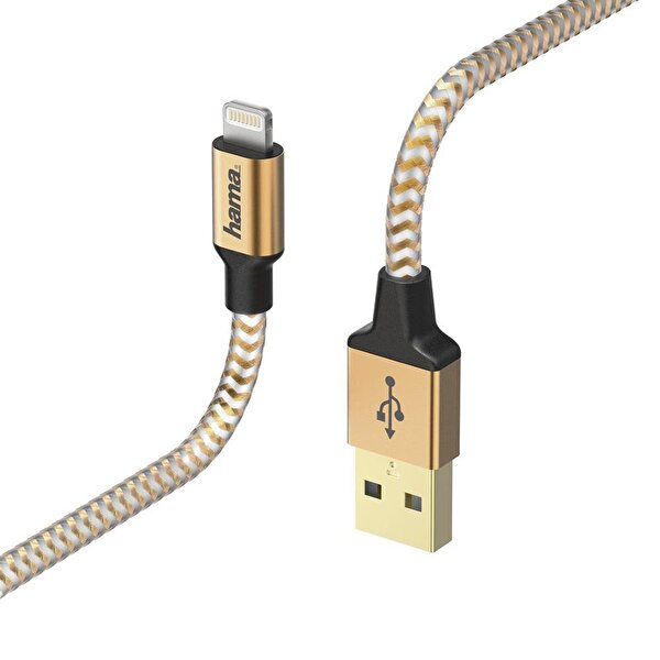 Hama 178298 Lıghtnıng Usb Kablo Reflectıve 1.5M Turuncu