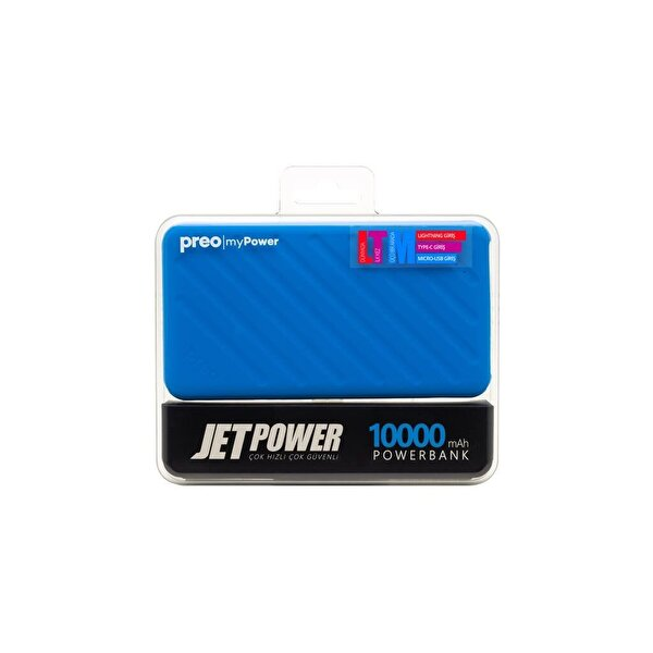 Preo My Power Jetpower A1 Mavi 10000 mAh Powerbank