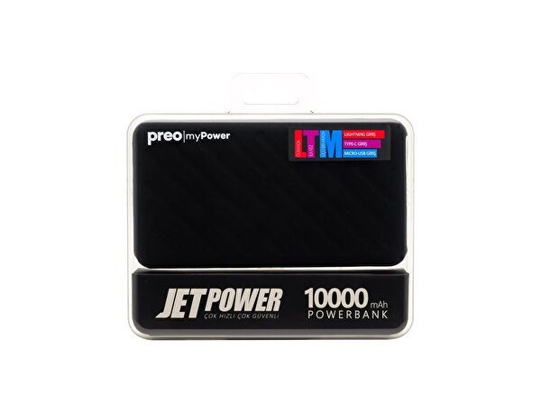 Preo My Power Jetpower A1 Siyah 10000 mAh Powerbank