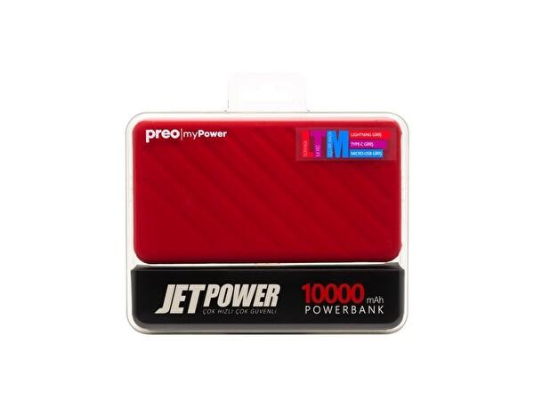 Preo My Power Jetpower A1 Kırmızı 10000 mAh Powerbank