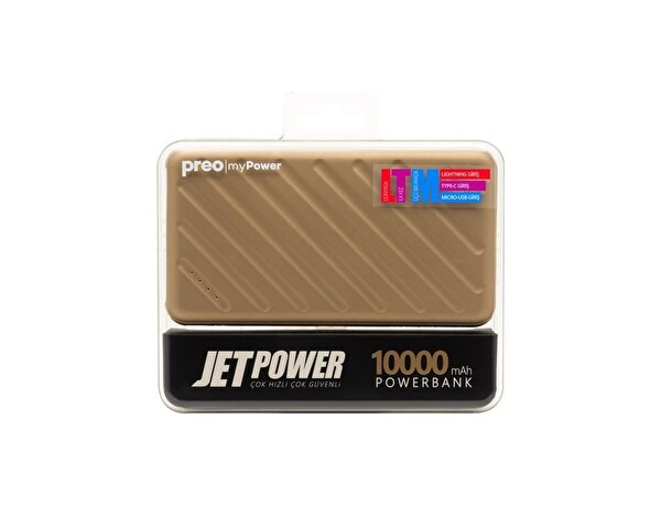 Preo My Power Jetpower A1 Altın 10000 mAh Powerbank