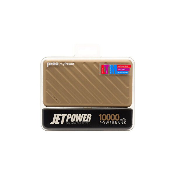 Preo My Power Jetpower A1 Altın 10000 mAh Powerbank