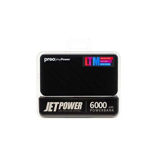 Preo My Power Jetpower A2 Siyah 6000 mAh Powerbank