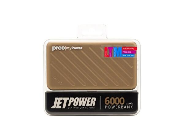 Preo My Power Jetpower A2 Altın 6000 mAh Powerbank